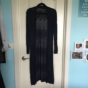 Belldini Long Sleeve Long Length Cardigan